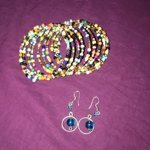 Earring and bracket set